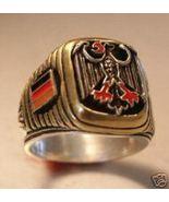 German Eagle,Flag Men's signet ring...sterling Silver.925,Brass - $79.00