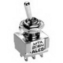 MTA306F Alco Switch 3PDT ON-(ON) Mini Toggle Switch - Alcoswitch MTA306F Tyco # - $22.70