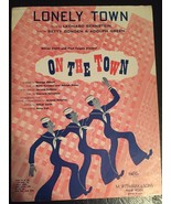 "ON THE TOWN Broadway Show Sheet Music ""Lonely Town"" - $29.69"