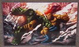 Marvel Incredible Hulk vs Thing Glossy Print 11 x 17 In Hard Plastic Sleeve - $24.99