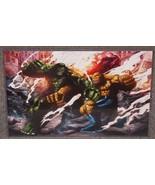 Marvel Incredible Hulk vs Thing Glossy Print 11 x 17 In Hard Plastic Sleeve - $24.99