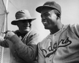 Jackie Robinson & Branch Rickey 8X10 Photo Brooklyn Dodgers Baseball Picture Mlb - $3.95