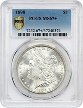 1898 PCGS MS67+ Satiny Gem - Morgan Silver Dollar - satiny gem - $7,896.04
