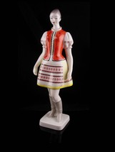 Exotic girl  Statue -  Vintage fine porcelain - signed  figurine hungary - $65.00