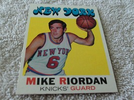 1971/72 Topps #126 Mike Riordan Knicks Near Mint / Mint Or Better !! - $174.99