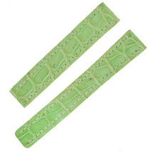 Breitling 15 -14 mm Light Green Genuine Alligator Leather Watch Band - $199.00