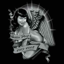 Bettie Page Remember! Memorial Angel T-Shirt, NEW UNWORN - $14.50