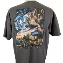 Sturgis Black Hills Rally 2011 T-Shirt XL 71st Annual Wolf Biker Mount R... - $16.79