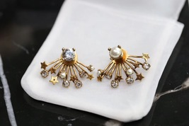 NEW Authentic Christian Dior 2019 CD DIORAINBOW CRYSTAL LOGO STAR Earrings image 5