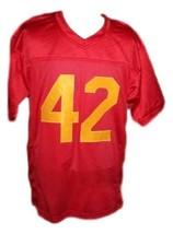 Ricky #42 Boyz N The Hood Movie New Men Football Jersey Red Any Size image 5