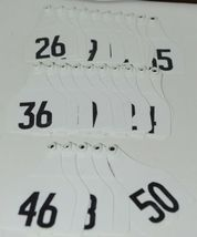 Destron Fearing DuFlex Visual ID Livestock Panel Tags XL White 25 Sets 26 to 50 image 5