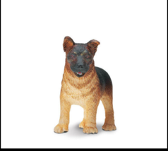 GERMAN SHEPHERD PUPPY DOG FIGURINE BLACK TAN BROWN PET SAFARI LTD TOY NEW - $2.10