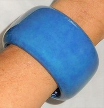 Sobral Stonewash Cornflower Blue PB50 Statement Bangle Bracelet Brazil I... - $53.46