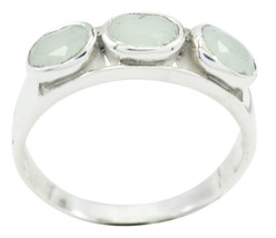 jewellery 925 Sterling Silver attractive Natural Blue Ring gift UK - $31.22
