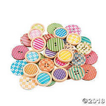 Patterned Wood Buttons  - $7.74