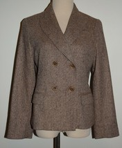 New Talbots Blazer 12P Kate Fit Button Jacket Wool Blend Lined 12 Petite - $51.41