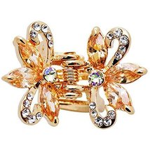 Sweet Mosaic Hair Claw Elegant Hair Clip Small Size Claw/Hairpin(Champagne)