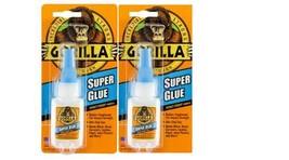 2-Lot Gorilla Super Glue 15g Impact Tough  RUBBER TOUGHENED ANTI-CLOG CAP - $11.87
