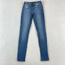 So Denim Jeggings Women's 1 Blue 5-Pocket Low Rise Skinny Ankle Cotton B... - $18.95
