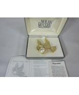 Nolan Miller Fantasy Flight Pin Brooch Swan Faux Pearl Crystals - $89.09