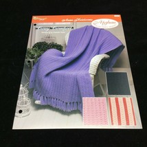Cozy Comfort Afghan The Needlecraft Shop Crochet Pattern Instructions 1993 - $4.46