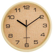 "jomparis 12"" Battery Operated Silent & Non-Ticking Wall Clock - Wood Gra... - $25.28"