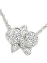 Cartier K18WG Caress Dorukide Pal Cartier necklace diamond 18 White Gold Flower - $2,828.53