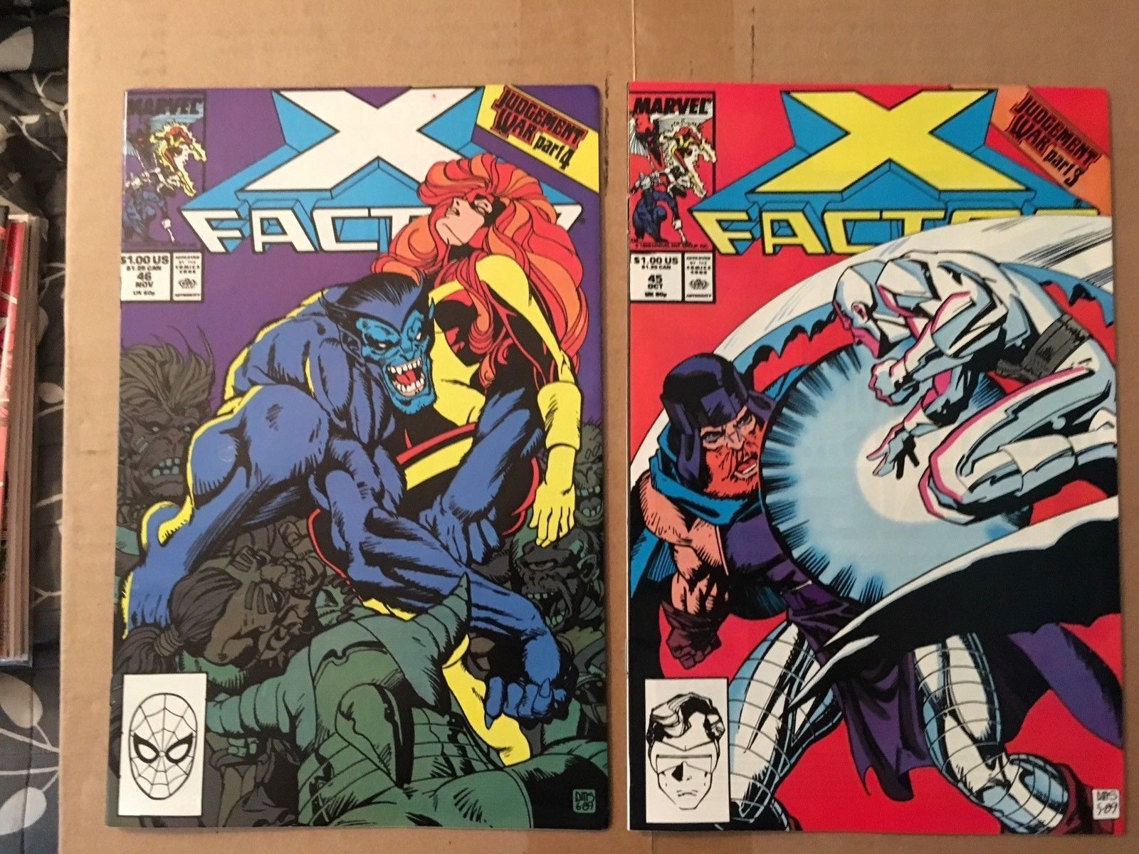 X-Factor 38 39 40 41 42 43 44 45 46 1986 Marvel Comic Book Lot VF/VF Condition