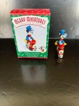 Hallmark Merry Miniatures Mickey's Locomotive #1 In Series 1998 - $7.50