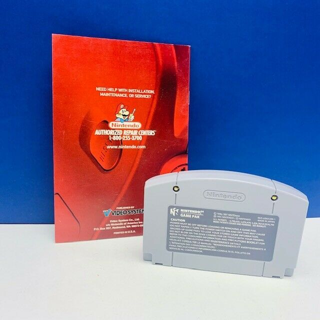 Nintendo 64 video game cartridge F1 World grand Prix formula 1 racing world vtg image 2