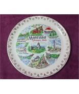 "Montana Souvenir Collectors 7 1/4"" Plate Treasure State Blackfoot Gold Edge - $12.99"