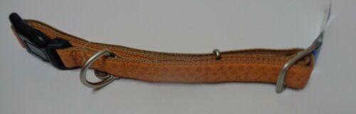 "Dog Collar Large Breed NWT Adjustable Tan Camel Brown 27"" x 1""W Bark Avenue"