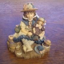1995 Yesterdays Child Dollstone Boyd's Bear Ashley with Chrissie Figurine  - £14.03 GBP