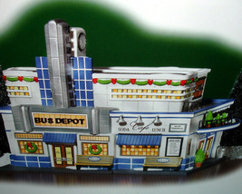 Department 56 Blue Line Bus Depot Christmas In The City #56.59210 New - $79.90