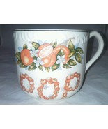 NOS 1960s Coffee Mug POP Spelled Out In Oranges Florida In Gold New - $19.99