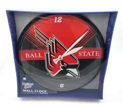 Ball State University Cardinals Mascot Wall Clock by WinCraft Sports Dorm Decor - $29.58