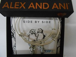 Alex and Ani Side by Side Set of 2 Silver-Tone Otter Bangle Bracelets NWTBC - $42.56