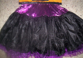 Girl Purple Petticoat Halloween Skirt Dress Up One Size - $7.37