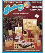 NEEDLEPOINT BASKETRY KITCHEN NATURALS PLASTIC CANVAS RAFFIA - $4.00