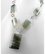 Large Labradorite Crystal Glass Drop Necklace - $50.15