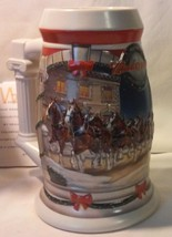 2001 BUDWEISER HOLIDAY STEIN 'HOLIDAY AT THE CAPITOL' MINT IN BOX COA & ... - $29.69