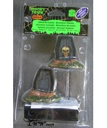 Lemax Spooky Town Halloween Light Up Coffins lighted figures set of 2 - $15.99