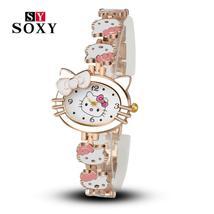 Women Child Cartoon Bracelet Watch Hello Kitty Fashion Casual Dress Quar... - $9.00
