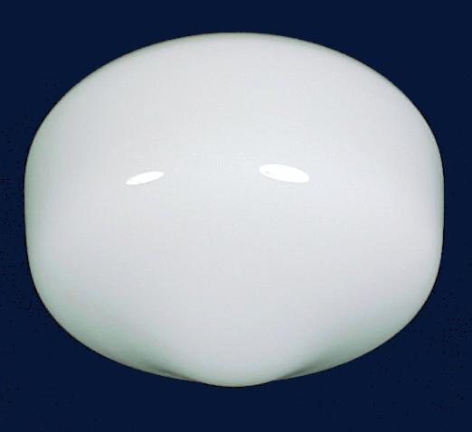 White Glass Schoolhouse Ceiling Fan Light Globe Shade