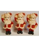 3 Vintage Figural GURLEY Santa Candles - $15.00