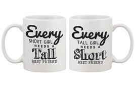 Matching Coffee Mugs for Best Friends - Tall and Short Best Friends - €21,78 EUR