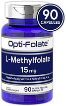 L Methylfolate 15mg | 90 Capsules | Max Potency | Optimized and Activated | Non-