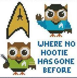 Hooties Science Fiction Trekkies cross stitch chart Pinoy Stitch