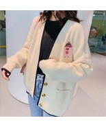 Long sweater cardigan female cartoon 2019 early spring and autumn full s... - $32.30