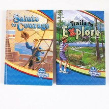Abeka 4th Grade Student Readers CURRENT Trails Explore Salute Courage Lo... - $12.99